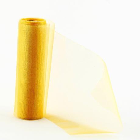 Organza 16 cm x 9m žltá,