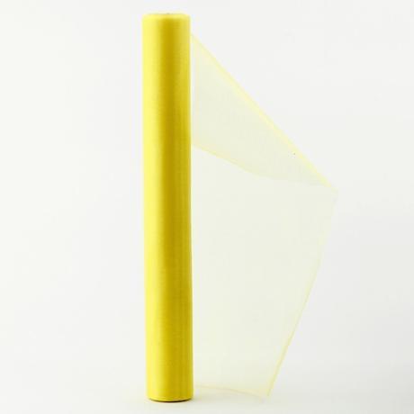 organza 36cm x 9m žltá,
