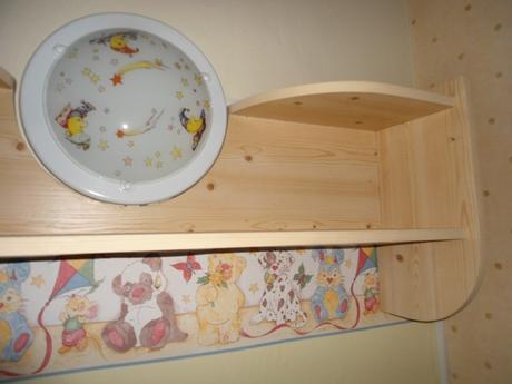 detska lampa/svetlo a polica do detskej izby,