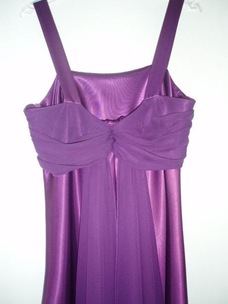 fialove spoločenske šaty, 42