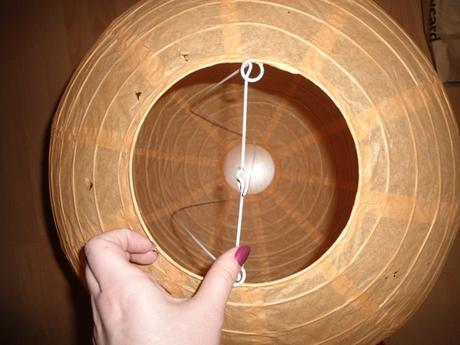 papierovy lampion - luster,