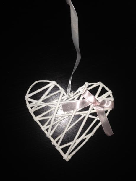 Romantická srdiečková výzdoba - mentolovo-ružová,