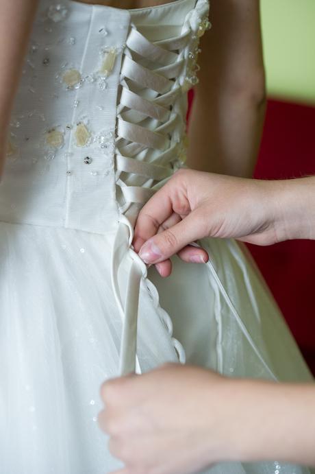 Svadobné šaty jemná teplá biela, 36
