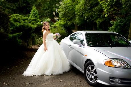 Krajkovo-tylové svatební šaty, 38