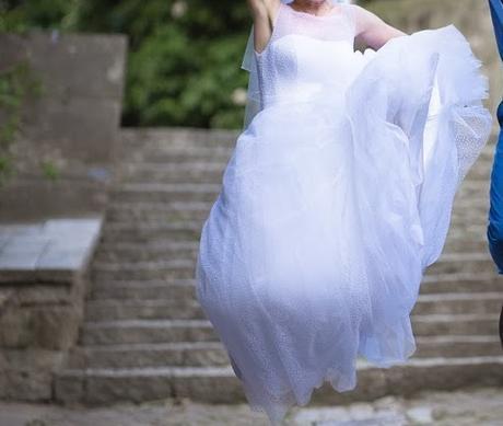 Retro puntíkaté svatební šaty, 36