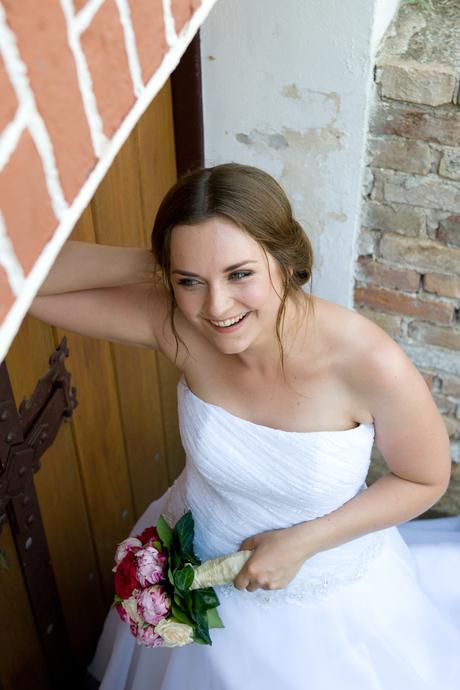 Jednoduché svatební šaty Madora vel. 38/40, 165 cm, 38