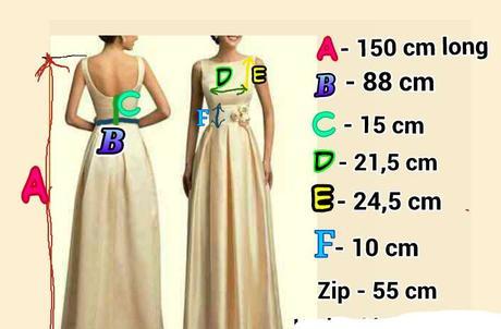 Šaty,upravené na míry 108-88-108 a více, 46