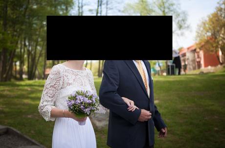 Svatební šaty s krajkou vel 36-38, 38