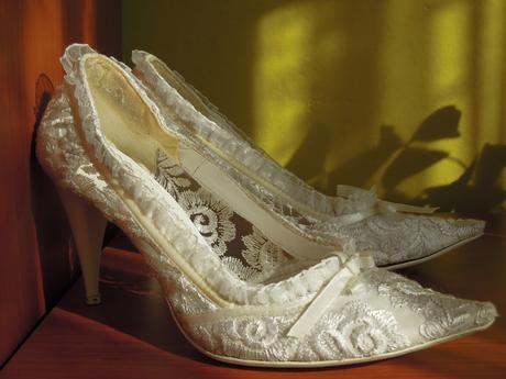 Krajkové svatební boty, 40