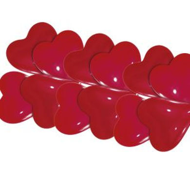 balóny srdiečka 20 cm 10 ks,