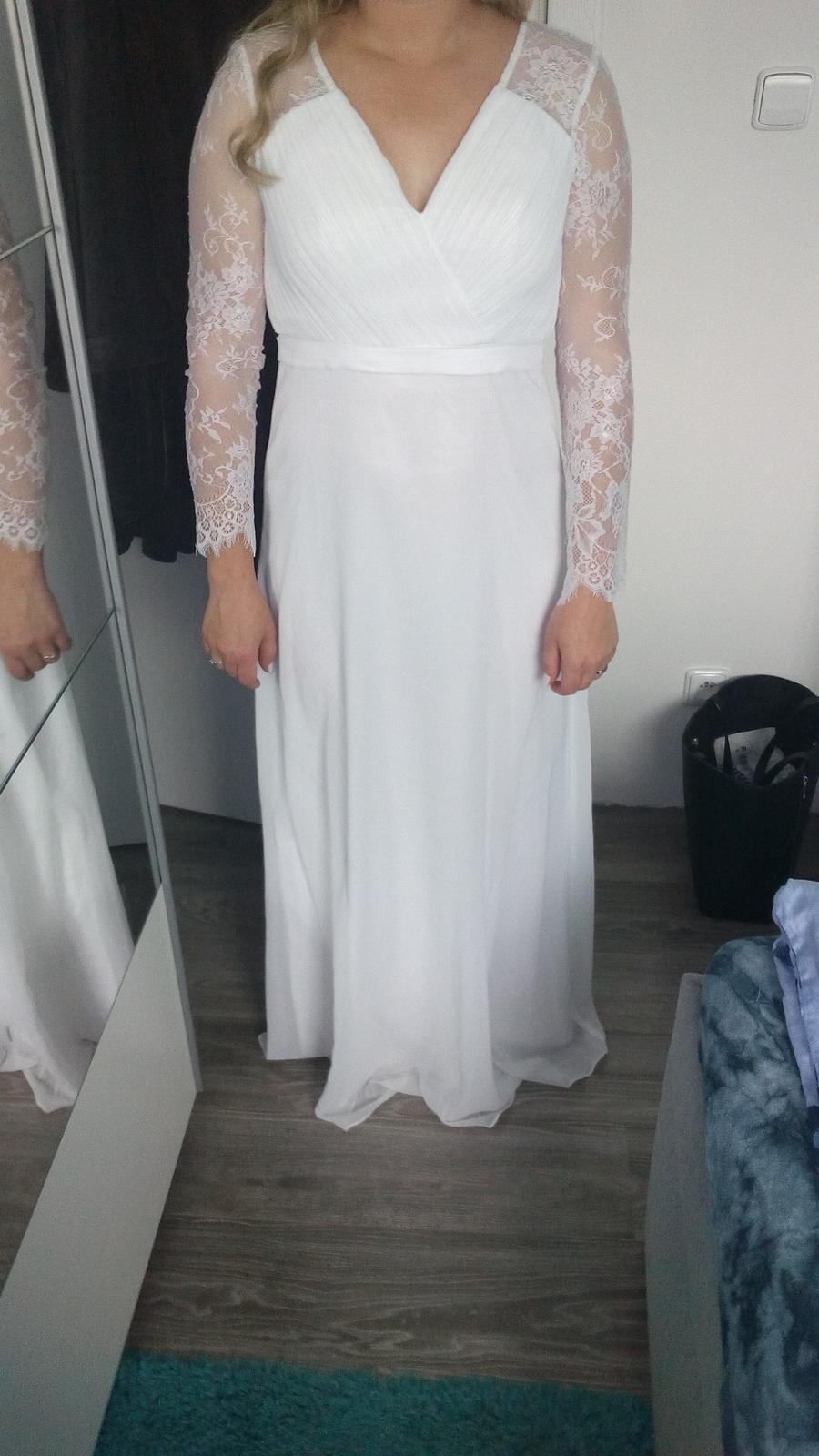 2b653c21ea7 Svatební šaty s dlouhým rukávem
