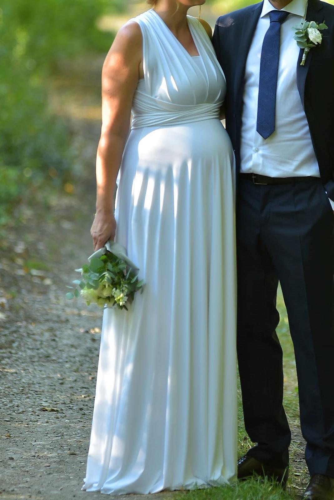 c6e085efeabd Svadobné spoločenské šaty - biele