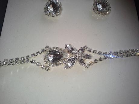 Jablonecka bizuteria - svadobny set s kamienkami,