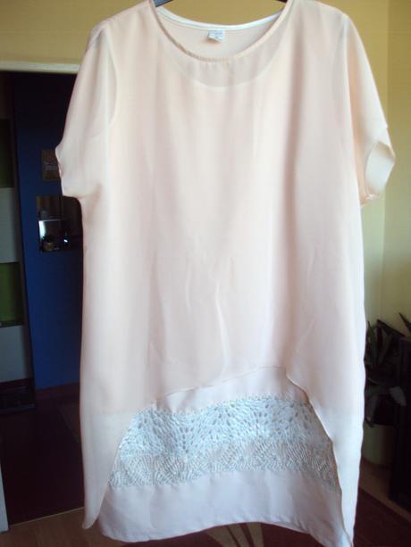 Staroružové šifónové šaty, 46