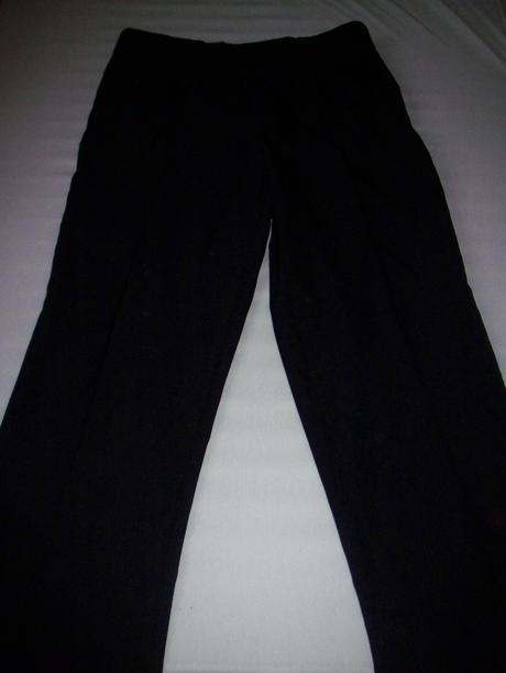 Čierne pánske nohavice, M