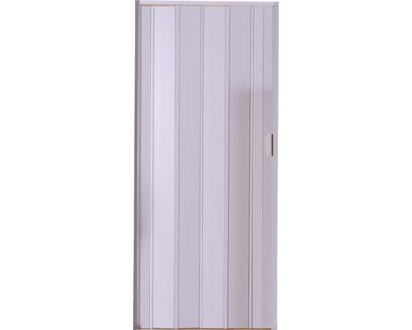 Shrnovací dveře bílé hladké,