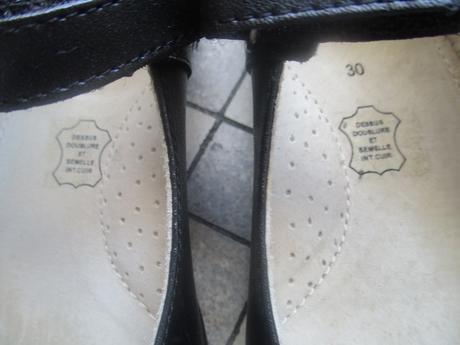 Celokozene balerinky na suchy zips proteticke, 30