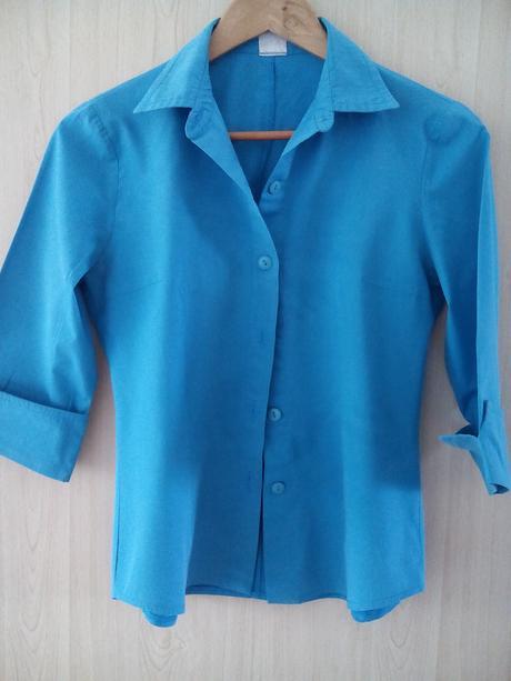azurova (tyrkysova) bluzka s 3/4 rukavmi, 40