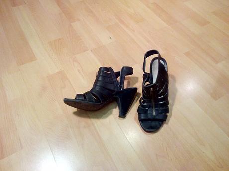 cierne sandale, 38