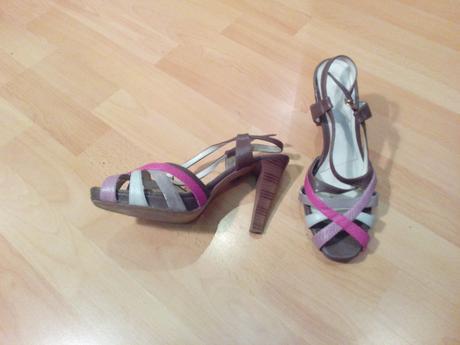 farebne sandale, 39