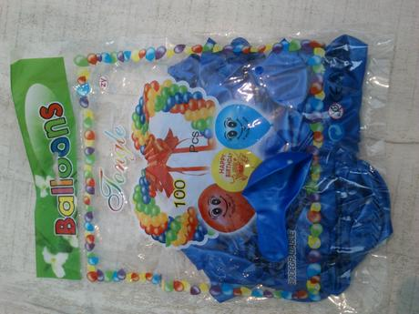 Balonky - k dispozici už jen modré,