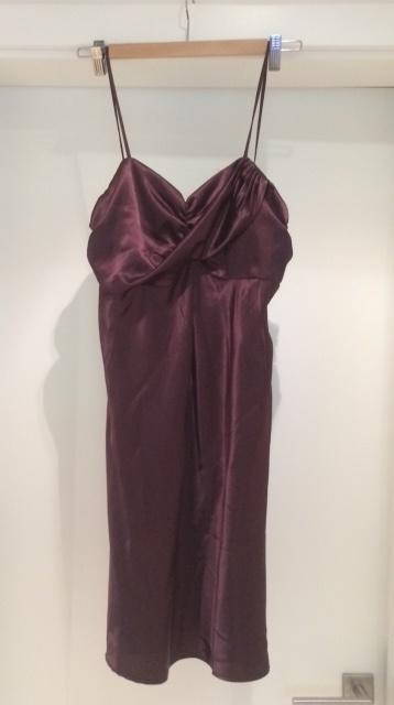 Párty šaty vínovej farby, 40