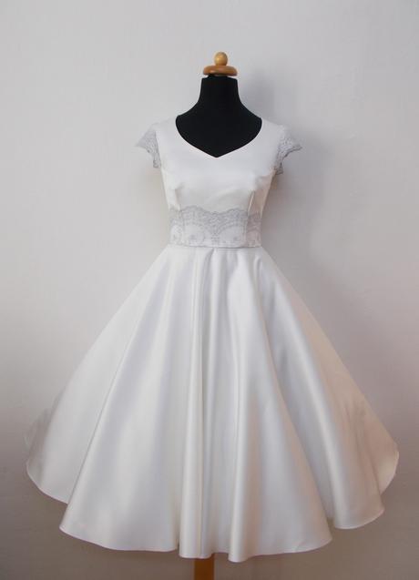 retro krátké svatební šaty, 38