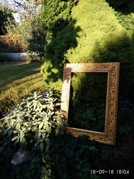Zlatý rám na fotky / dekoraci / do fotokoutku,