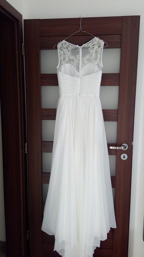 Něžné a romantické svatební šaty, vel 34-36, 36