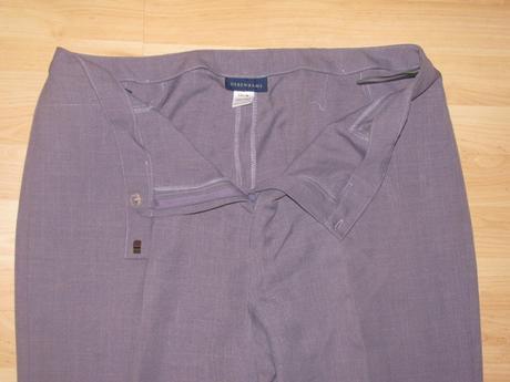 Fialové nohavice so 70 percen. zľavou, 48