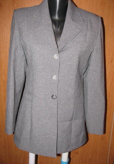Sivý nohavicový kostým, 38