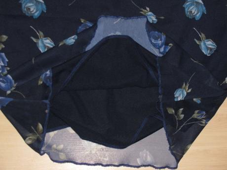 Tmavomodré letné šaty, 40