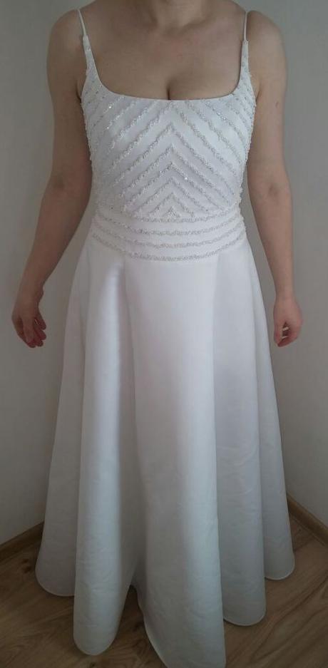 Svadobné šaty na ramienka ginza collecion m -l , 40