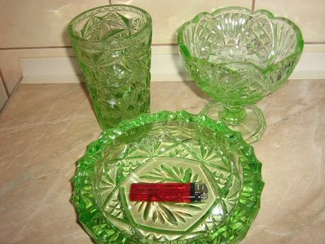 stare  zelene sklo ,