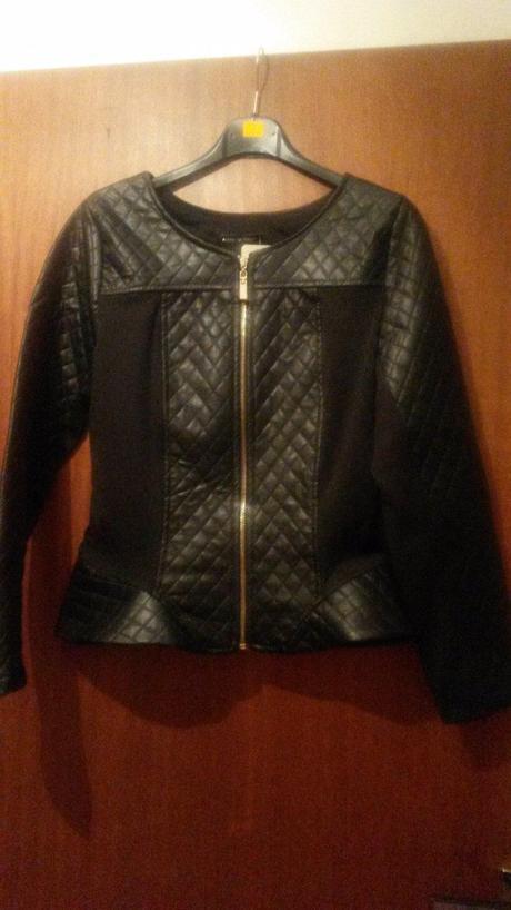 Koženkové sačko - kabátik, S