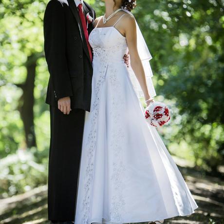 Jemné svadobné šaty 36-38, 38