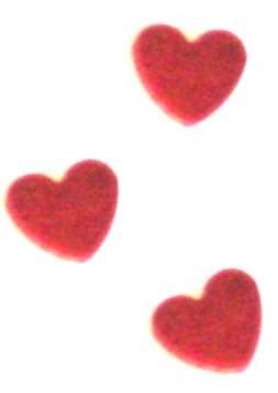 Konfety lesklé srdce,