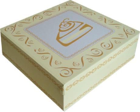 Krabice na dort - celoplošný potisk - 28x28x10,1ks,