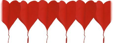 Pap. girlanda srdce 4 m, pr. 19 cm,