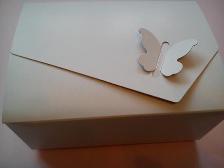 Svatební krabička na výslužku s motýlkem,