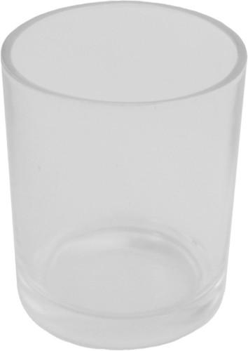 Svícen ze skla na čajové svíčky mléčný, 1 ks,
