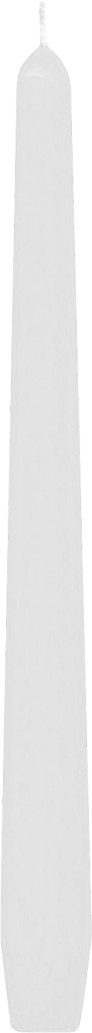 Svíčka kónická bílá 24,5 cm,