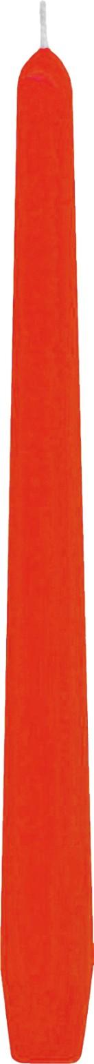 Svíčka kónická oranžová 24,5 cm,