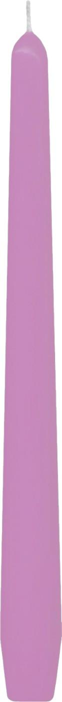 Svíčka kónická růžová 24,5 cm,