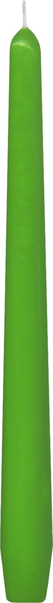 Svíčka kónická tmavě zelená 24,5 cm,