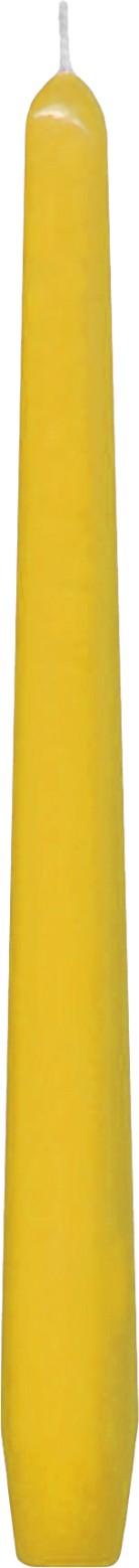 Svíčka kónická žlutá 24,5 cm,