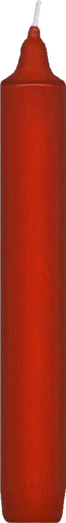 Svíčka rovná 17 cm červená,