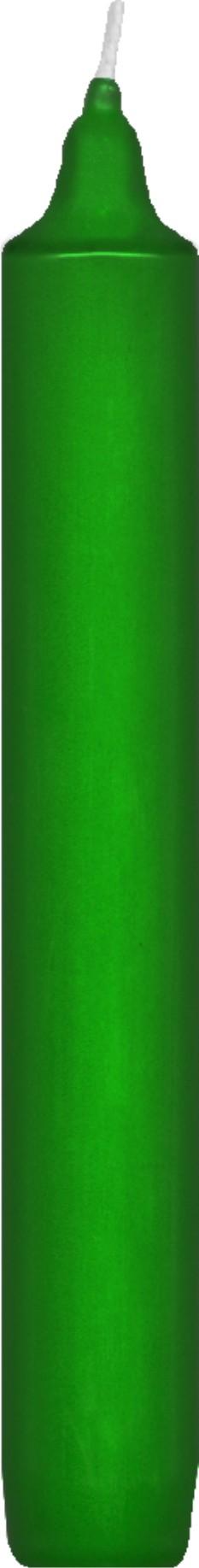 Svíčka rovná 17 cm tmavě zelená,