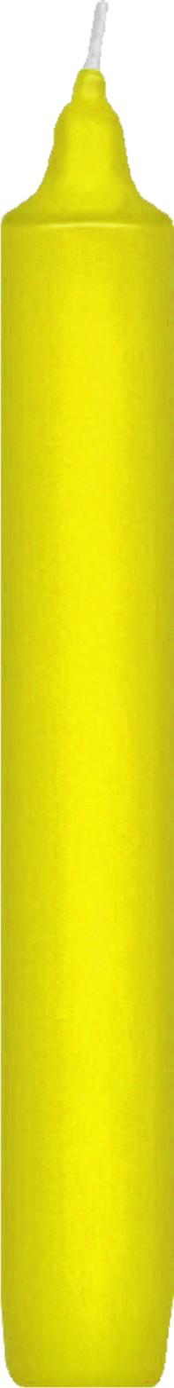Svíčka rovná 17 cm žlutá,