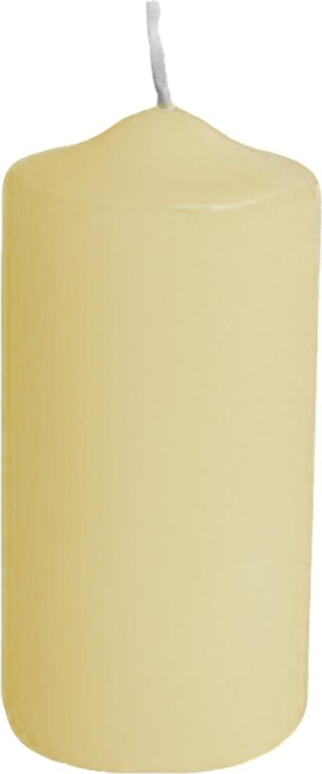 Svíčka válcová pr. 8 x v. 20 cm béžová, 1 ks,